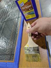 stain from a fiberglass door