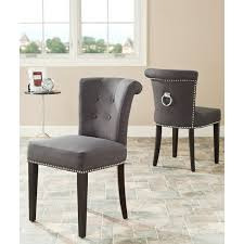 safavieh en vogue dining carrie polyester dining chairs set of 2