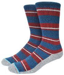 American <b>Stanced</b> Basketball Socks Ethnic Strip Combed Cotton ...