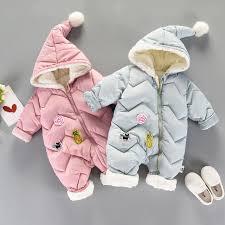 baby costume products infant cotton plush zipper design newborn girl boys clothes snowsuit for winter coats