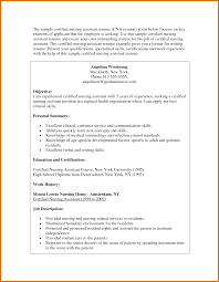 Cna Resume Examples Modern Bio Resumes