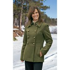women s guess pea coat olive drab to zoom