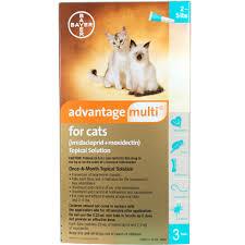 Advantage Dosage Chart For Cats Advantage Multi 3pk Cats 2 5 Lbs