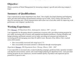 gallery of resume examples retail management retail store manager resume examples