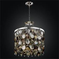 mother of pearl shell chandelier black magic 586h