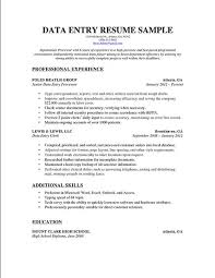 Gallery Of Sample Resume Format Data Entry Clerk Resume Example