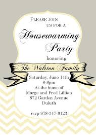 Chevron and ribbon- Housewarming Party Invitations