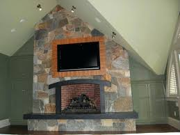 flat stone fireplace flat stone fireplace cc 2 enchanting mounting flat screen on stone fireplace