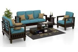 this beautiful wooden sofa set has a great design which can become the centre piece of your living room it has an elegant make which represents the ideals