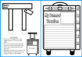summer vacation suitcase templates fun back to school writing my summer vacation suitcase templates for creative writing