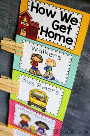 How We Get Home Chart Classroom Decor That Works Mrs Jones Creation Station