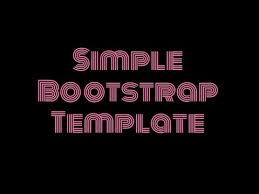 Simple Bootstrap Template Free Html Website Templates