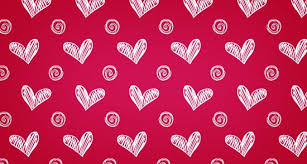 Heart Pattern Interesting Hand Sketched Heart Photoshop And Illustrator Pattern Vector Patterns