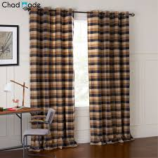 Plaid Curtains For Living Room Window Cotton Curtain Promotion Shop For Promotional Window Cotton