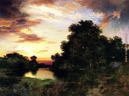 thomas moran sunset on long island