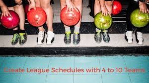 How To Make A League Schedule Create A League Schedule With 4 To 10 Teams Google For