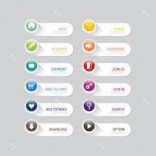 Button Design Modern Banner Button With Social Icon Design Options