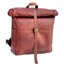 vintage leather macbook briefcase leather school bag backpack rucksack
