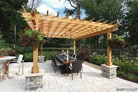 custom pool enclosure hexagon shape. A Beautiful Wood Pergola Sits Near The Swimming Pool And Features Custom Dining Table Made From Salvaged Barn Colorful Hanging Baskets. Enclosure Hexagon Shape