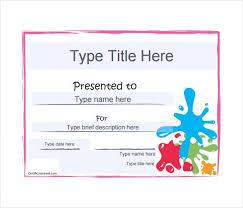 art award blank gift certificate pdf template free