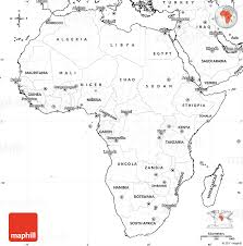 Blank Simple Map of Africa