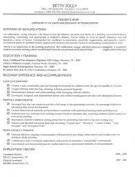 Resume Preschool Teacher Examples Download Early Childhood