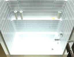 one piece bathtub surround accord tile 1 4 in x installing bathroom