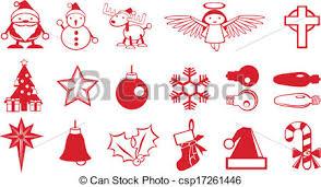 Simple Christmas Components Vector Santa Snowman Deer Christmas