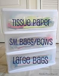 organized gift wrap randomrecycling com 786x1024
