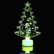 Led Light Up Christmas Tree Ximandi Color Changing Rgb Led Christmas Tree Table