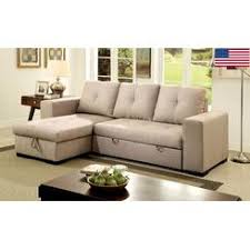 small sectional with chaise. Furniture Of America Living Room Small Sectional Sofa W Storage Reversible Chaise Pull Out Bed Sleeper With O