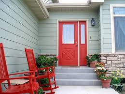 Small Picture Front Door Decoration with Red Colors 22 House Exterior Design Ideas