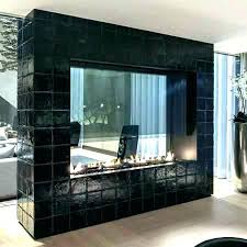 two sided fireplace indoor outdoor 2 ideas glass double wood burning