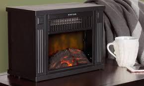 mini portable electric heater fireplace automatic shutoff