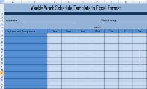 microsoft office schedule maker weekly work schedule template in excel format jobbet