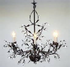 wrought iron crystal chandelier fabulous and regarding attractive home leaf prepare h30 x w28