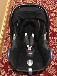 maxi cosi cabrio fix first baby car seat and isofix base