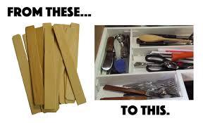 paint stir stick drawer organizer