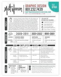 Resume Samples For Graphic Designers Graphic Design Resume Templates