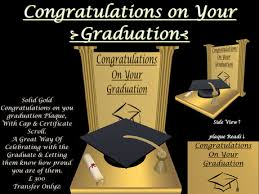 Second Life Marketplace Congratulations On Your Graduation Gold