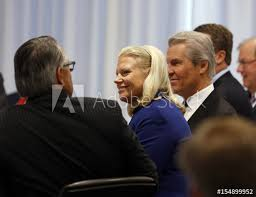 ibm ceo ginni rometty listens to answer questions from business leaders while at the quarterly