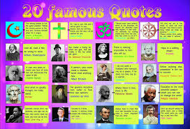 Laminated 20 Geniuses Famous Quotes Poster Wall Chart Motivational Inspirational Home Gift