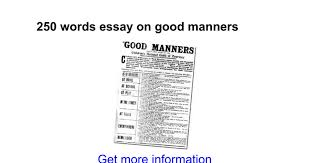 words essay on good manners google docs