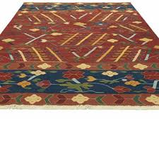 k0033844 red blue new turkish kilim rug kilim com the source for authentic vintage rugs kilims overdyed oriental rugs hand woven turkish rugs