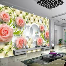 custom any size photo wallpaper 3d wall decor for living room modern simple and stylish 3d rose painting wall mural wallpapers kitchen wallpaper landscape
