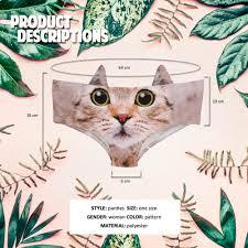 <b>LEIMOLIS Cat dog Pig</b> Animal funny print sexy ear panties female ...
