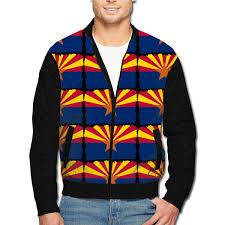 Amazon Com Mens Classic Jackets Arizona Flag Casual