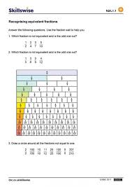 Equivalent Fractions Part One That Equal Worksheets Math Pairs 1 ...