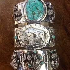 cactus buffalo turquoise handmade turquoise sterling silver texas