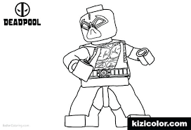 Lego Deadpool Coloring Pages Line Drawing Coloring Page Various